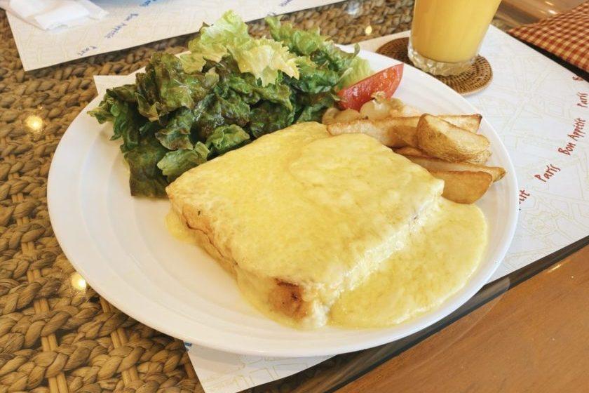 緑区中尾 パンカフェギー チーズフレンチトースト